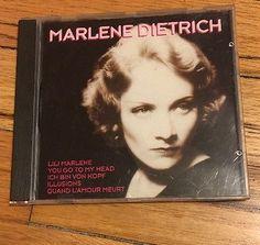 Marlene Dietrich Marlene Dietrich CD RARE 1985 Discover Records Lili Marlene    eBay