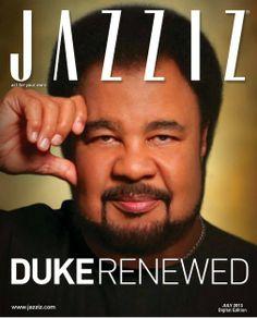Music legend GEORGE DUKE on the cover of JAZZIZ MAGAZINE, JULY 2013