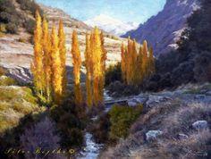 PINTURA PÉTER BOJTHE Sierra Nevada, Andalucia, Watercolor, Palette Knife, Granada, Art Paintings, Landscapes, Oil, Colors