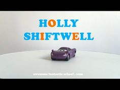Sound out the letters of the alphabet and learn to read the names of your favorite Disney Pixar Cars characters like Holly Shiftwell from Cars 2.