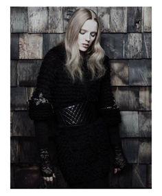 Gothic Couture Captures - The Pulp Magazine Chanel Editorial Stars Darkly Glamorous Kristen (GALLERY)