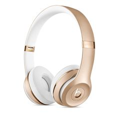 Beats by Dr. Dre Solo3 Wireless Headphones in gold let you listen to your favorite music without any cords. Buy now at apple.com