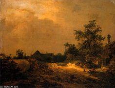 Fermes dans les dunes de Jacob Isaakszoon Van Ruisdael (Ruysdael) (1628-1682, Netherlands)