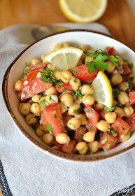 Balilah (salade de pois chiches) de Yotam Ottolenghi cheak peas