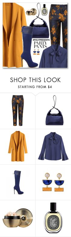 """""""#PolyPresents: Fancy Pants"""" by jecakns ❤ liked on Polyvore featuring Manon Baptiste, TradeMark, Guerlain and Diptyque"""