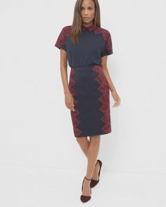 Ted Baker Scallop lace pencil skirt