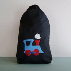 Train nylon drawstring backpack - $22