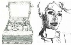 Typewriter Artist, & collector Keira Rathbone. Art typed one line at a time.