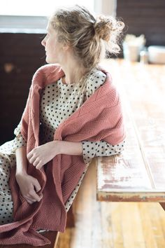 twist of fate by laura reinbach / quince & co chickadee in clay