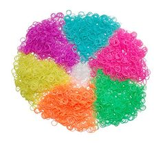 3600 Piece Glow in the Dark Loom Bands Kit - Rubber Band Bracelet Refill Packs with Over 150 Clips (6 Neon Rainbow Loom Bands Colors - Pink, Blue, Green, Purple, Yellow and Orange) - Compatible with All Looms - Individually Wrapped Packages Separated By Color Rubber Band Bracelet http://www.amazon.com/dp/B00QH9PZIK/ref=cm_sw_r_pi_dp_bnVQub13SDB9Q