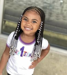 These tribal braids are the perfect protective style for little cuties😍 ⁣ ⁣ Beautiful work by @braidsbyjamie_ 👌🏾 Black Kids Braids Hairstyles, Black Girl Braided Hairstyles, Baby Girl Hairstyles, Braids For Black Hair, Toddler Hairstyles, Little Girls Natural Hairstyles, Dreadlock Hairstyles, Girl Haircuts, Prom Hairstyles