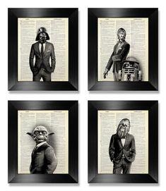 Star Wars Poster 4 estampes ensemble de cadeau par MEOWconcept