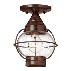 Hinkley Lighting Convertible Outdoor Pendant/Semi-Flush Light | 2203SZ | Destination Lighting
