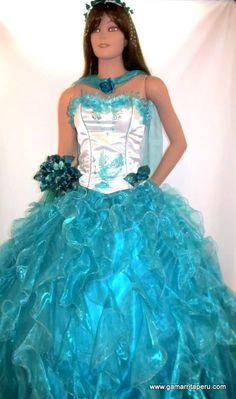 Creaciones Jaqueline - Vestido de quince años modelo Thalia - Gamarrita Perú S/.280.00.