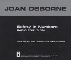 """For Sale - Joan Osborne Safety In Numbers USA Promo  CD single (CD5 / 5"""") - See this and 250,000 other rare & vintage vinyl records, singles, LPs & CDs at http://991.com"""