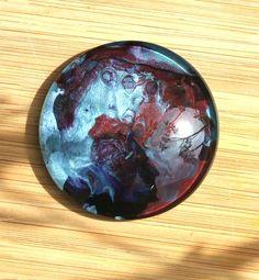 Grand cabochon 50 mm ethnique/pendentif turquoise, rouge/ PEINT A LA MAIN /cabochon verre loupe / pendentif ethnique ou bohème /scrapbooking de la boutique CRISTALbeads sur Etsy