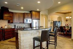 Hill Country Dream Home - thumb - 06 Huge Kitchen, Flex Room, Ceiling Treatments, Double Doors, Second Floor, Great Rooms, Game Room, Master Suite, Living Area