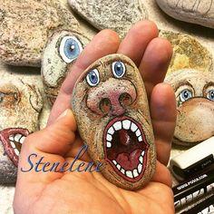 Screaming at the top of my lungs #malpåsten#sten#stenelene#paintedstones#stones#rockpainting#rocks#screamingatthetopofmylungs#thisiswhatido#thisiswhatilove
