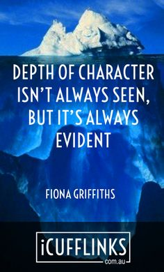 There's nothing more appealing than someone with depth. www.icufflinks.com.au