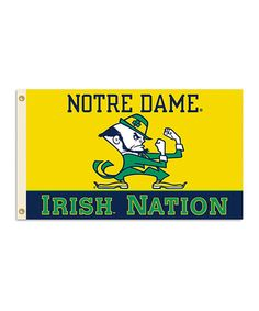Take a look at this Notre Dame 'Irish Nation' Grommet Flag by BSI Products on #zulily today!