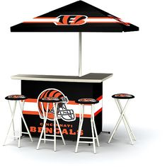 Gabe: Also great for tailgate parties we go too..NFL Cincinnati Bengals Portable Bar - NFLShop.com