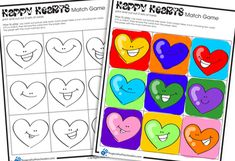 Print these on thicker paper or card stock to ensure that little eyes can't see the colors through the paper.  I love the color your own version!