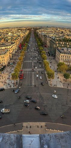 Avenues radiate from the Arc de Triomphe.  Click through the link to view a more detailed & larger image.