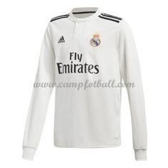 Real Madrid Fotballdrakter 2018-19 Hjemmedrakt Langermet Graphic Sweatshirt, T Shirt, Real Madrid, Sweatshirts, Long Sleeve, Sleeves, Mens Tops, Fashion, Supreme T Shirt