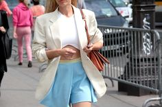 Thestreetfashion5xpro: In the Street...Celeste / Baby Blue, Florence, Milan & Paris