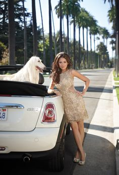 Gold Short Lace and Illusion Prom Dress by Camille La Vie & Group USA modeled by Janel Parrish of Pretty Little Liars