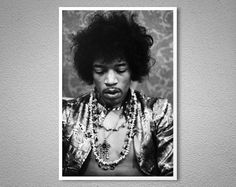 Jimi Hendrix  Vintage Poster - Poster Paper, Sticker or Canvas Print
