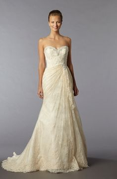 Bridal Gowns: Alita Graham A-Line Wedding Dress with Sweetheart Neckline and Asymmetric Waist Waistline