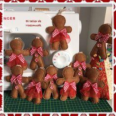Gingerman felt  Adornos de Navidad  Christmas ornaments