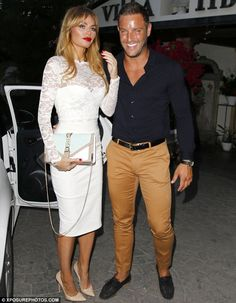 Cheeky: Chloe and Elliott Wright continued to fuel rumours of a romance as they posed toge...