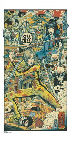 Buenisimo poster de la peli Kill Bill. Rockin' Jelly Bean's Kill Bill Poster from Mondo  (Onsale Info)