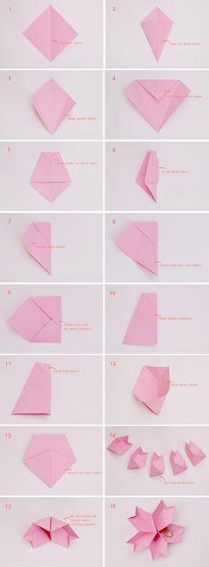 Anleitung: Origami-Kirschblüte als Ringtäger   Verrueckt nach Hochzeit