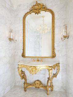 Love the parisian glamour, think the tiles are a little cold though. I'd go for a bright wallpaper
