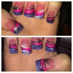 My nails for valentines day ! LV NAILS