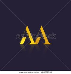 Letter AA that can be used as initial logo