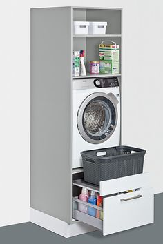 Utility room ideas from Schuller, solutions for everything – even in a small space. Fitted furniture for your laundry, cleaning, storage and recycling. – The post Utility room ideas from Schuller, solutions for ev… appeared first on Best Pins for Yours. Small Laundry Rooms, Laundry Room Organization, Laundry Room Design, Laundry In Bathroom, Bathroom Storage, Kitchen Storage, Small Utility Room, Small Bathrooms, Laundry Storage