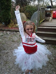 hand made tutu zombie cheerleader costume