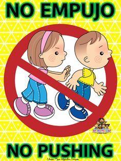 No corro, no grito, no empujo ~ Educación Preescolar