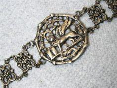 Vintage Sterling Lion of Saint Mark Griffin Winged Lion Bracelet Peruzzi   eBay