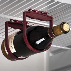 Wine bottle hanger for the fridge.