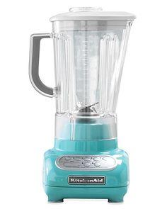 Martha Stewart Robin Egg Blue Collection KitchenAid 5-Speed Blender.
