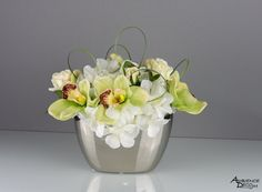 Artificial flower arrangement real touch silk by AmbienceDecoJM