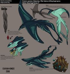 Creature Specimen: Salipantres by Avian-king