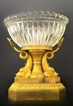 Exceptional Bronze & Baccarat Crystal Centerpiece By Thomire. Height: 11.5""