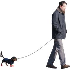 Man with Small Dog