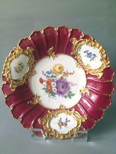 Beautiful 19th Century Meissen Porcelain Plate | eBay